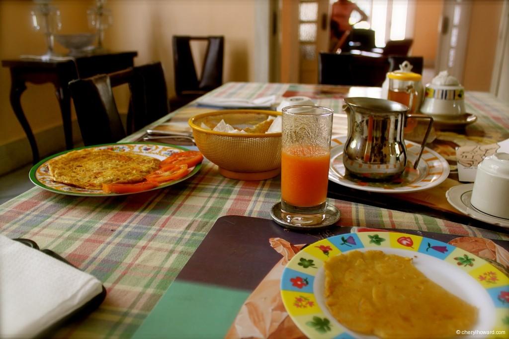 Breakfast at a Casa Particular Havana
