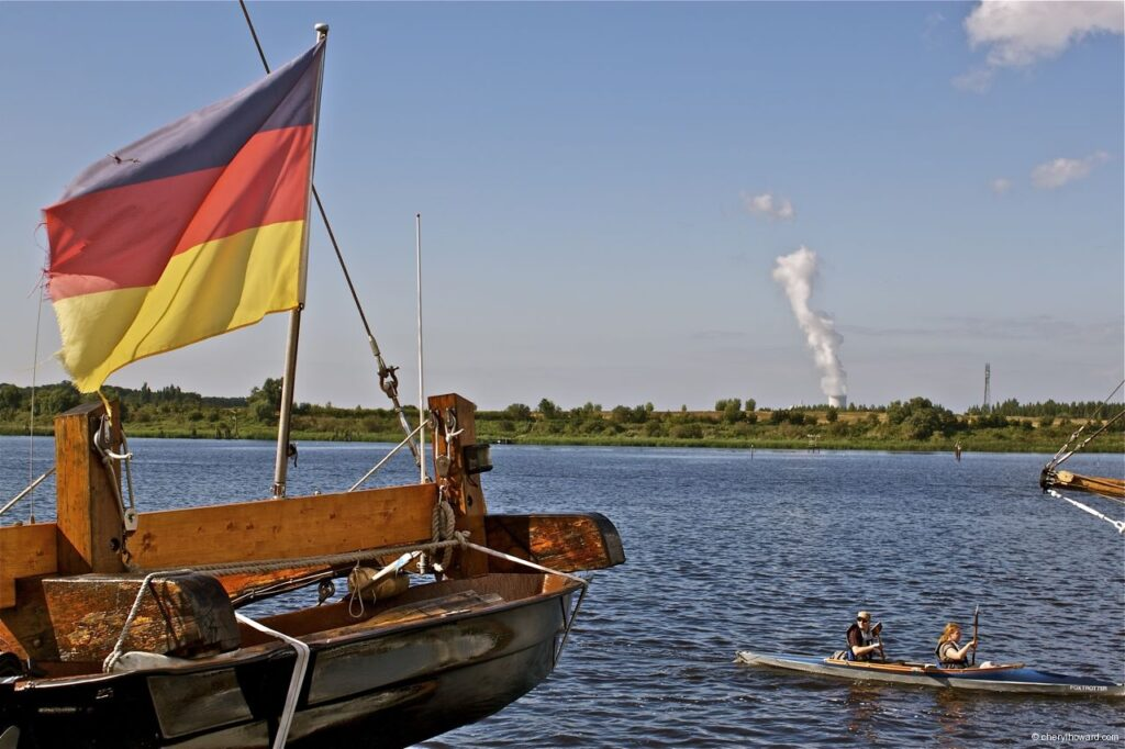Hanse Sail In Rostock Market - Boat German Flag