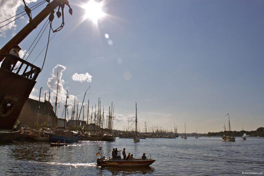 Hanse Sail In Rostock Market - Many Tall Ships