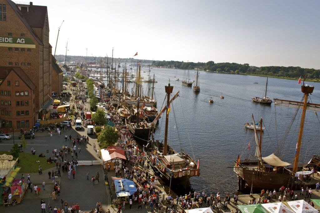 Hanse Sail In Rostock Market - View Of Waterfront