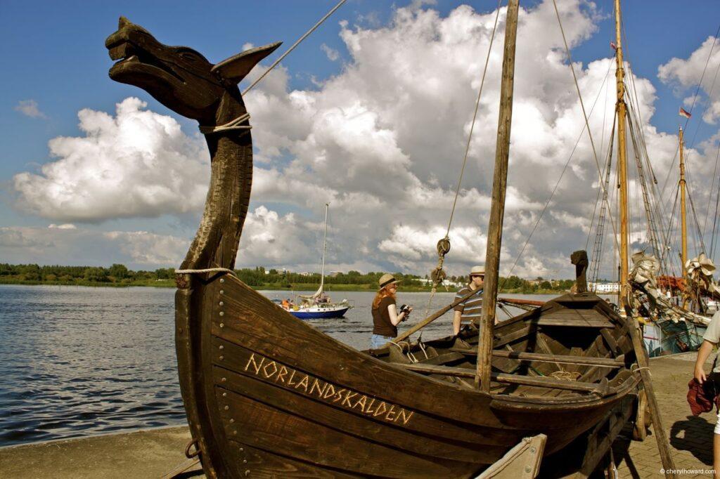 Hanse Sail In Rostock Market - Viking Boat