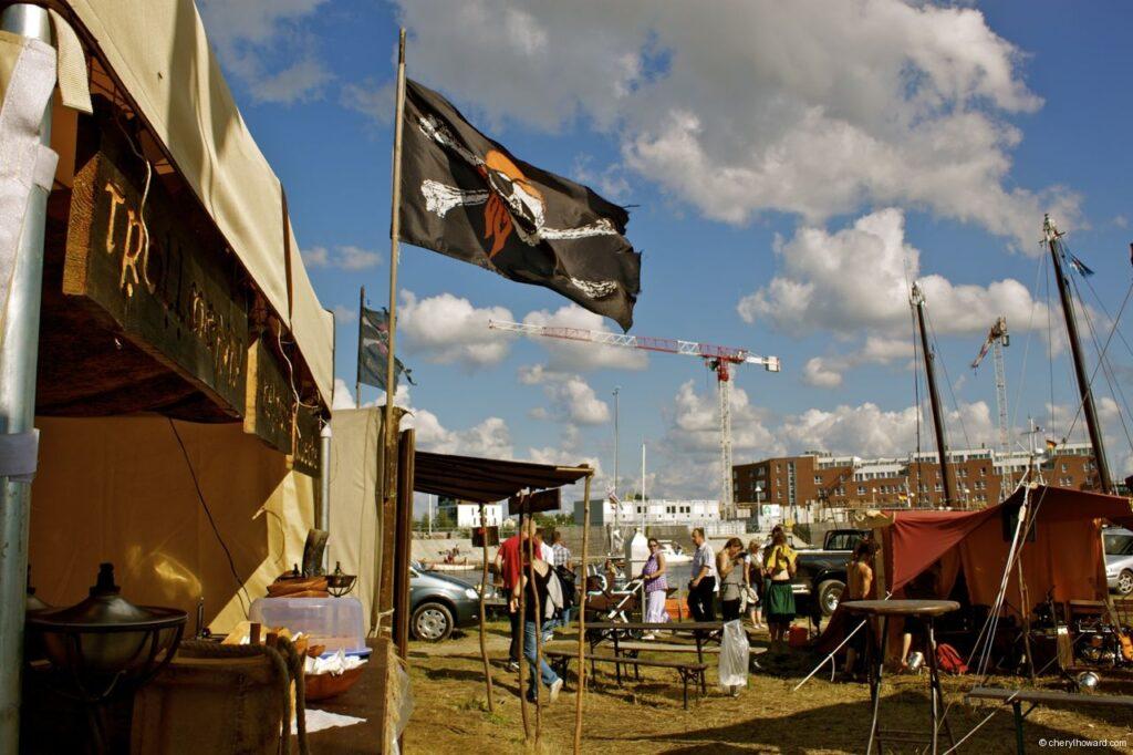Hanse Sail In Rostock - Pirate Flag