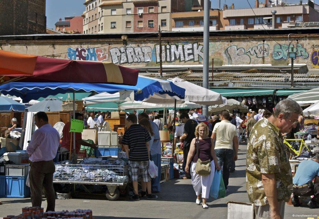 Encants Vells Market Barcelona - People