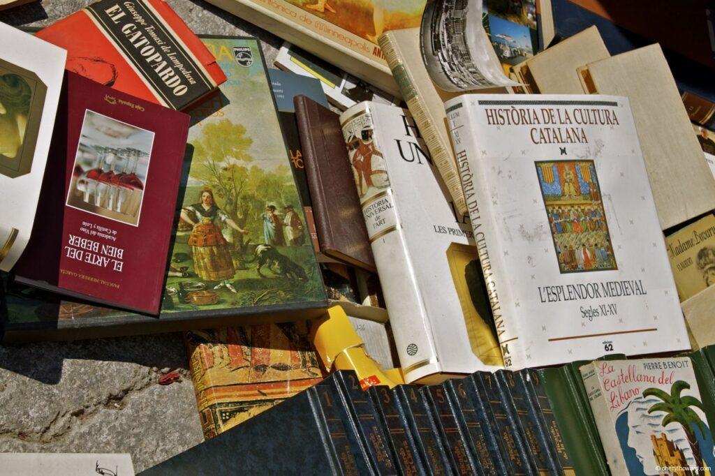 Flea Market Barcelona Spain Books