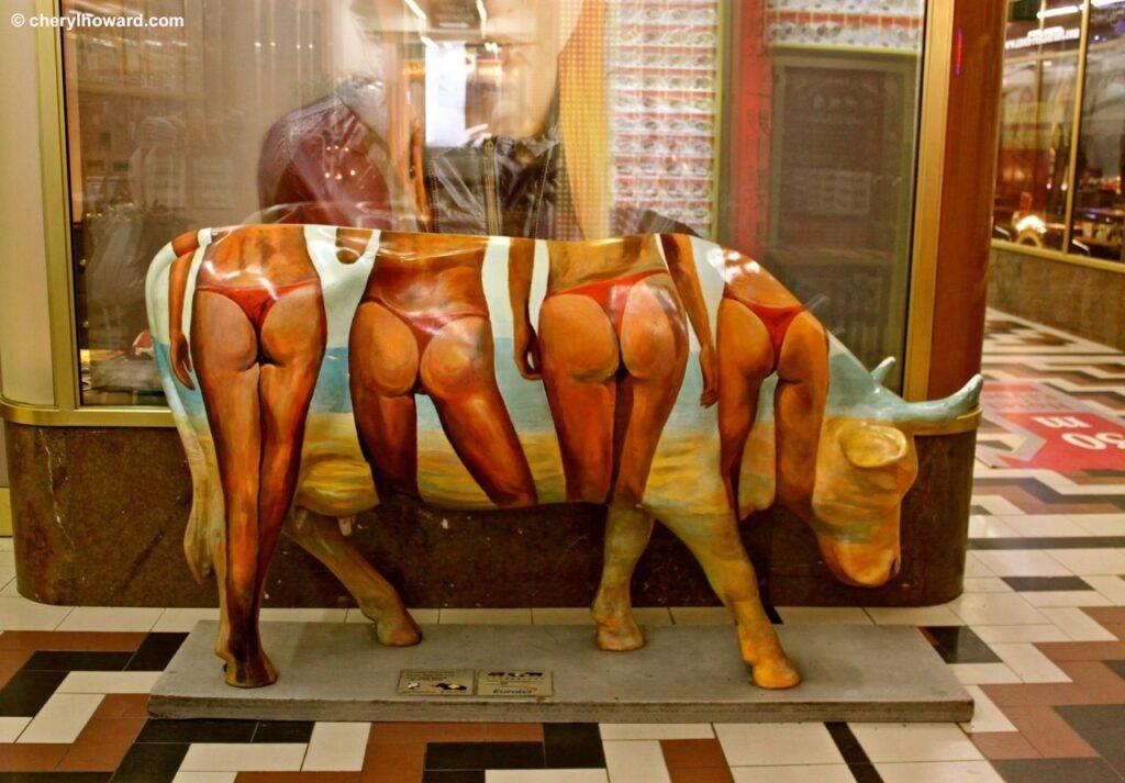 Weird Things In Prague - Cow Statue