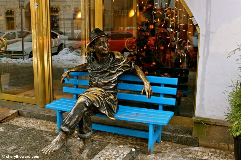 Weird Things In Prague - Statue Of Man On Bench
