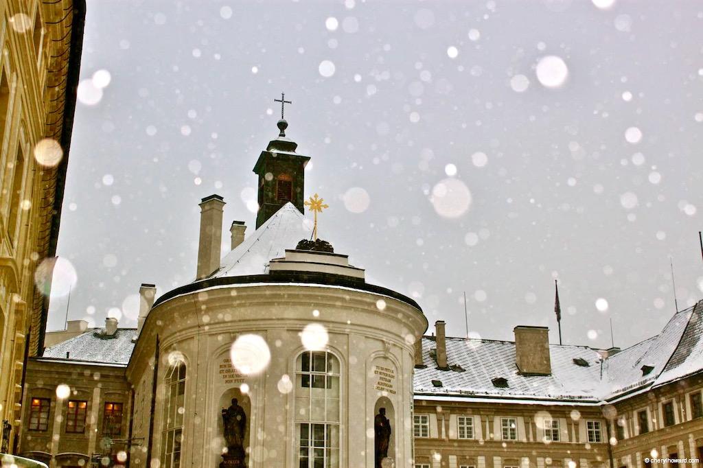 Prague Castle Complex Tour Snow