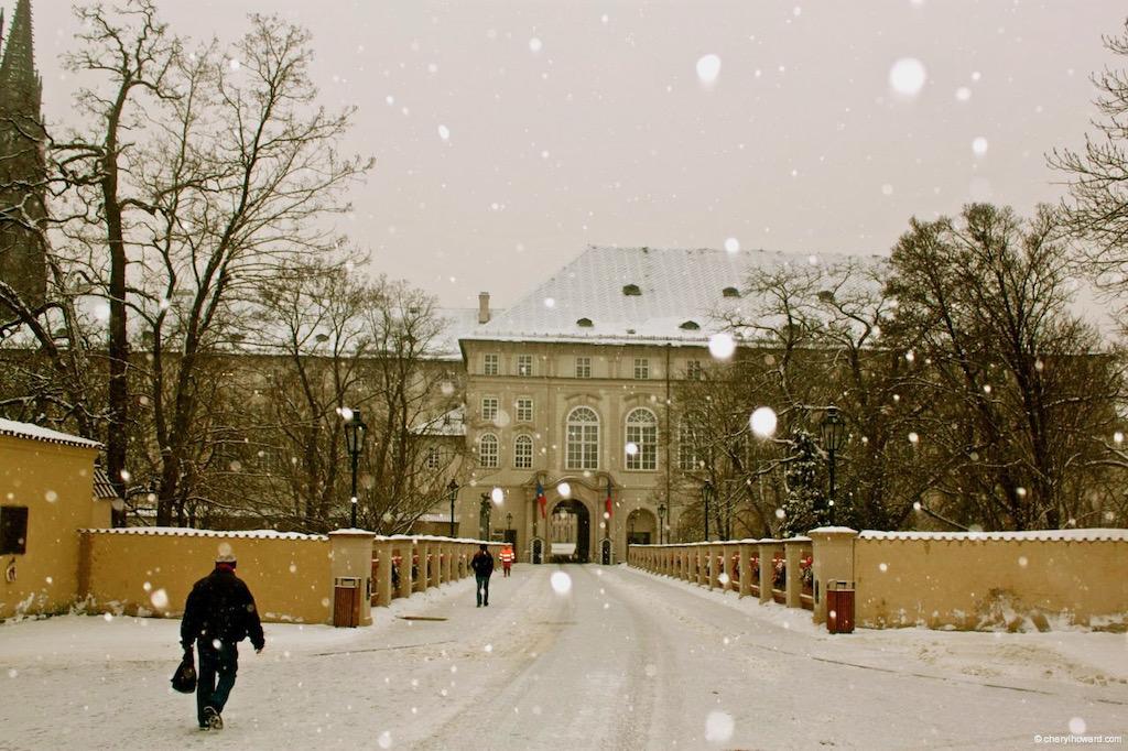 Prague Castle Tour Snow