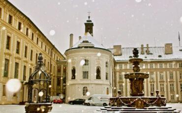 Prague Castle Tour Winter Snow Walk