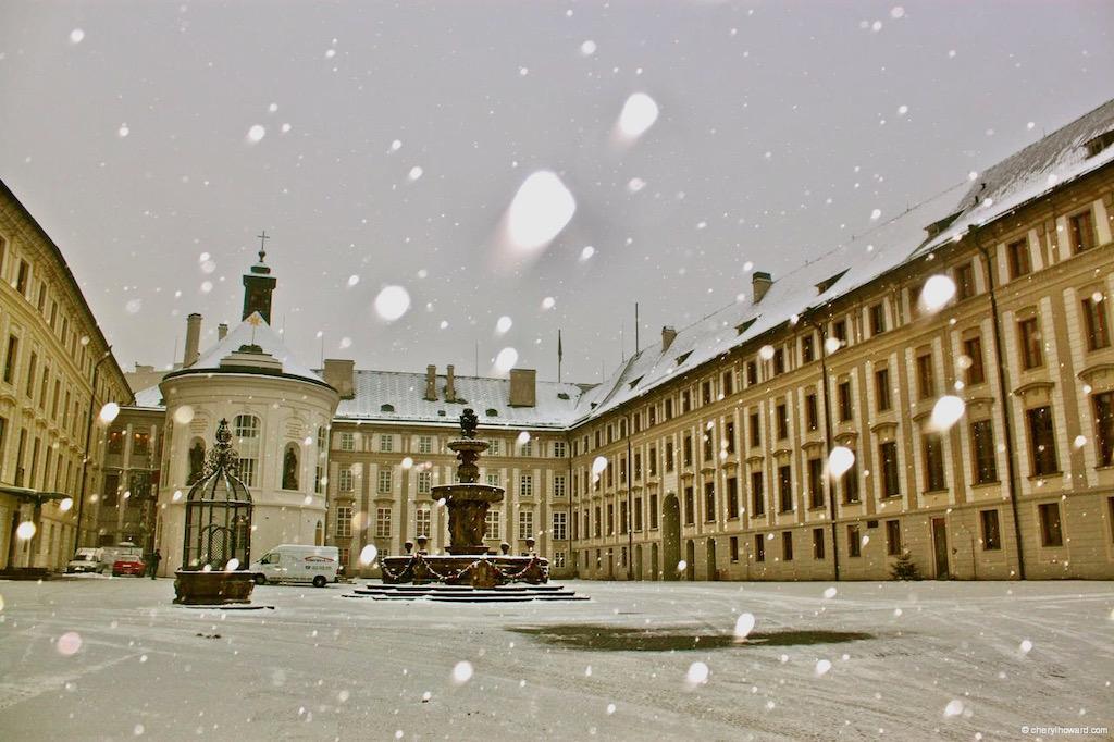 Prague Castle Tour With Snow