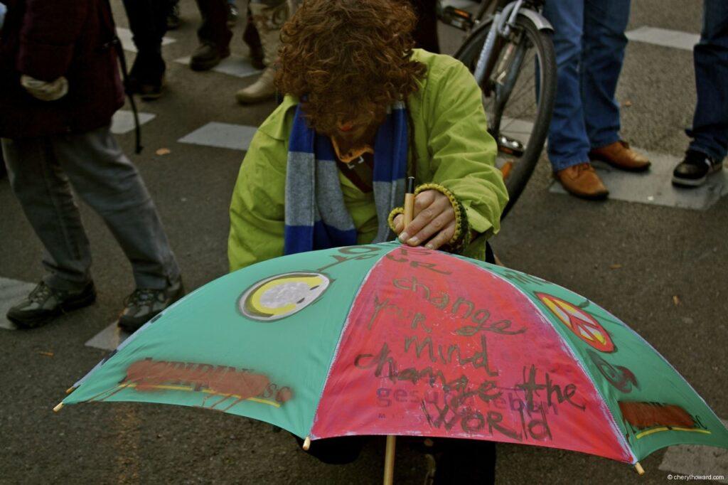 Occupy Berlin Umbrella
