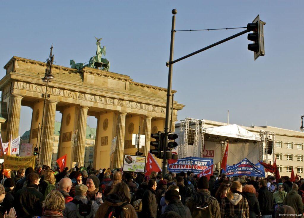 Occupy Berlin Brandenburger Tor