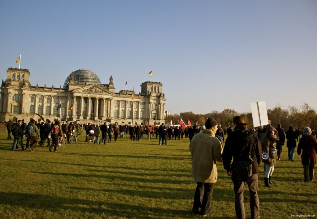 Occupy Berlin Parliament View