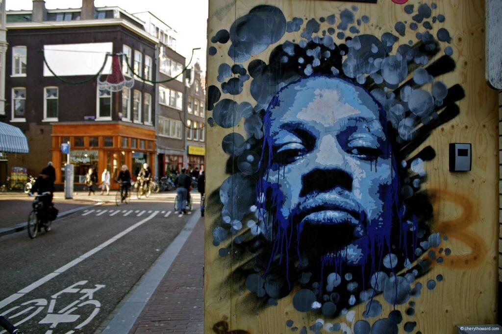 Amsterdam Street Art - Blue