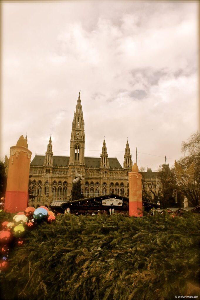Christkindlmarkt am Rathausplatz In Vienna Rathaus