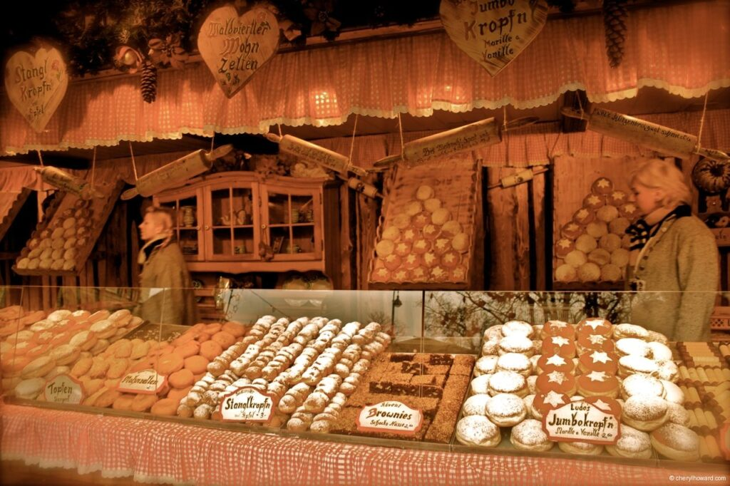 Food Stall At Vienna Christmas Market