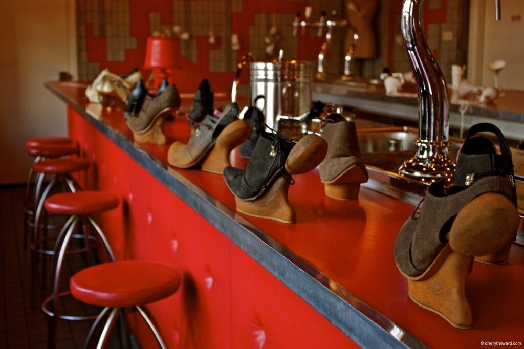 Kei Kegami Retrospective Shoes On Bar