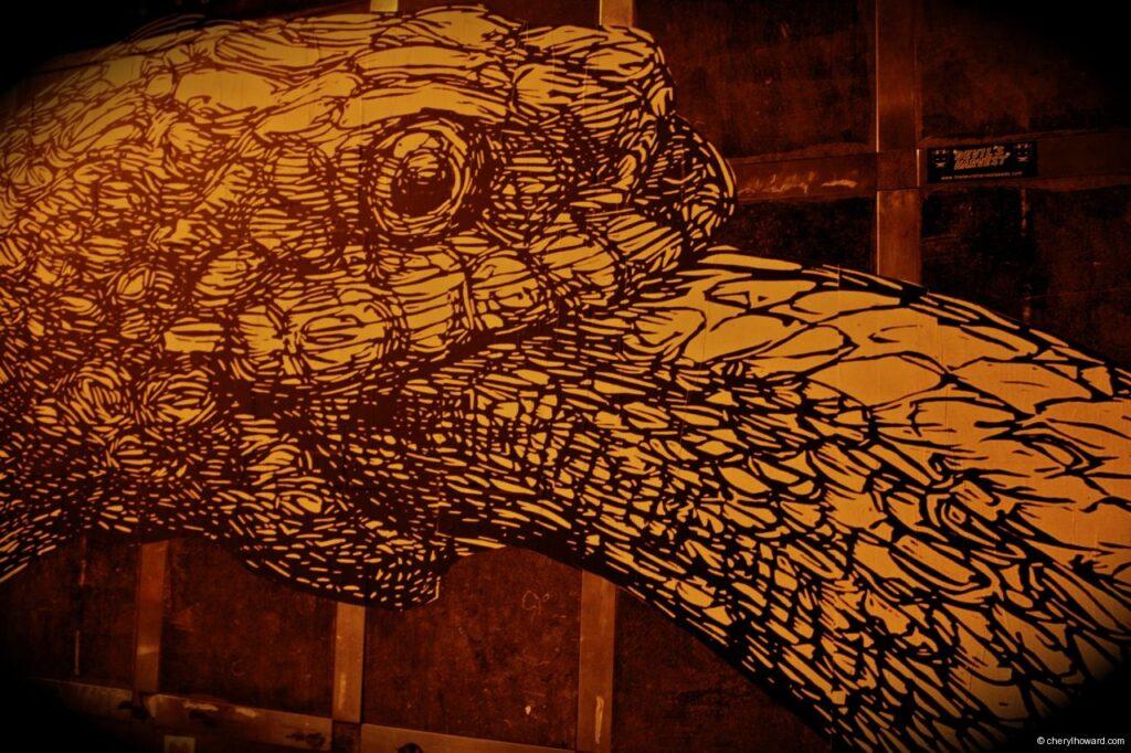 Snake Street Art In Amsterdam