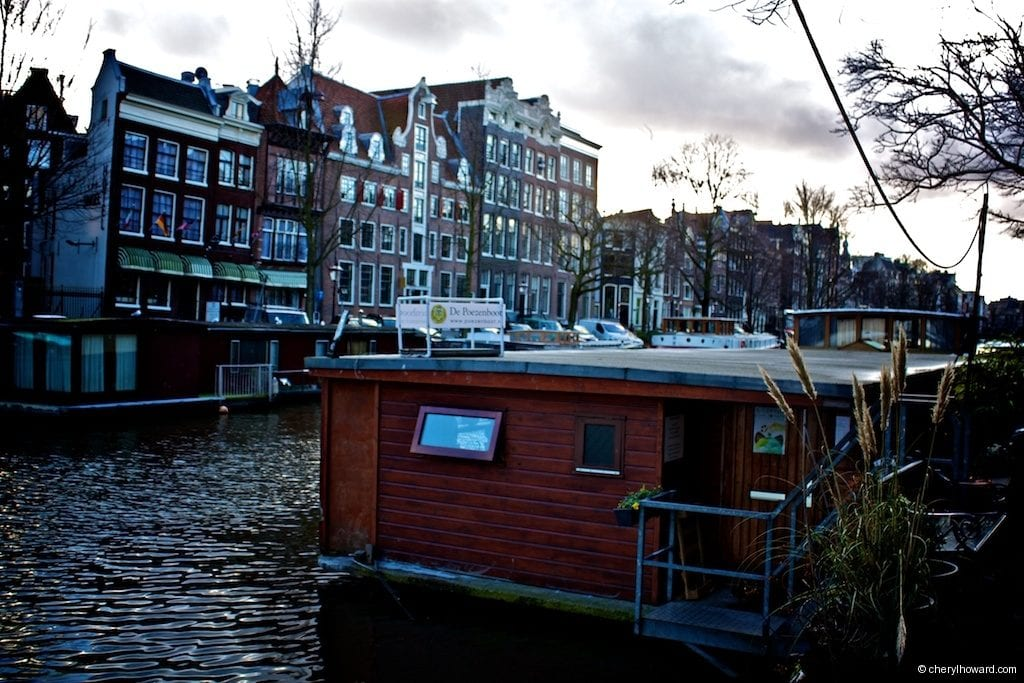 Cat Boat Amsterdam in Canal