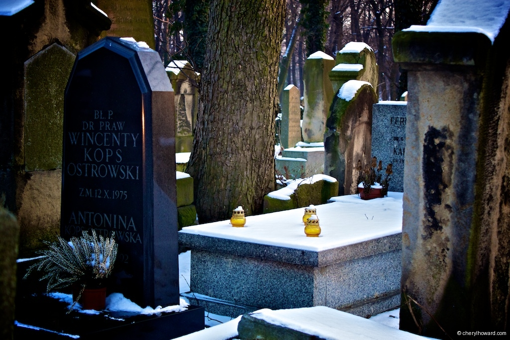 New Jewish Cemetery Krakow Graves and Candles