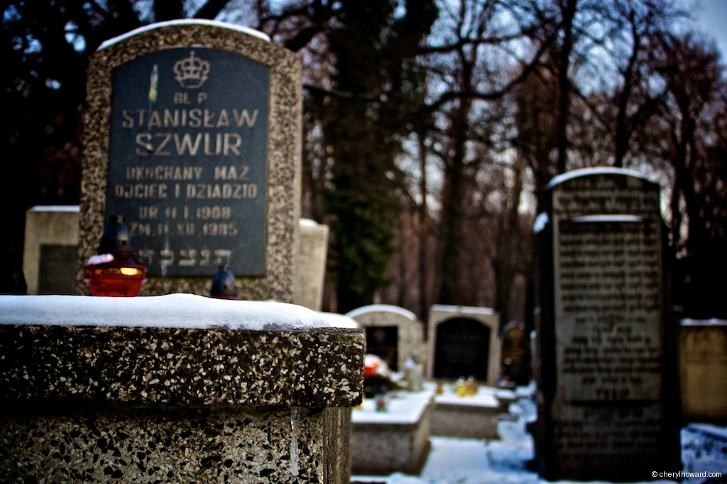 New Jewish Cemetery Krakow Winter