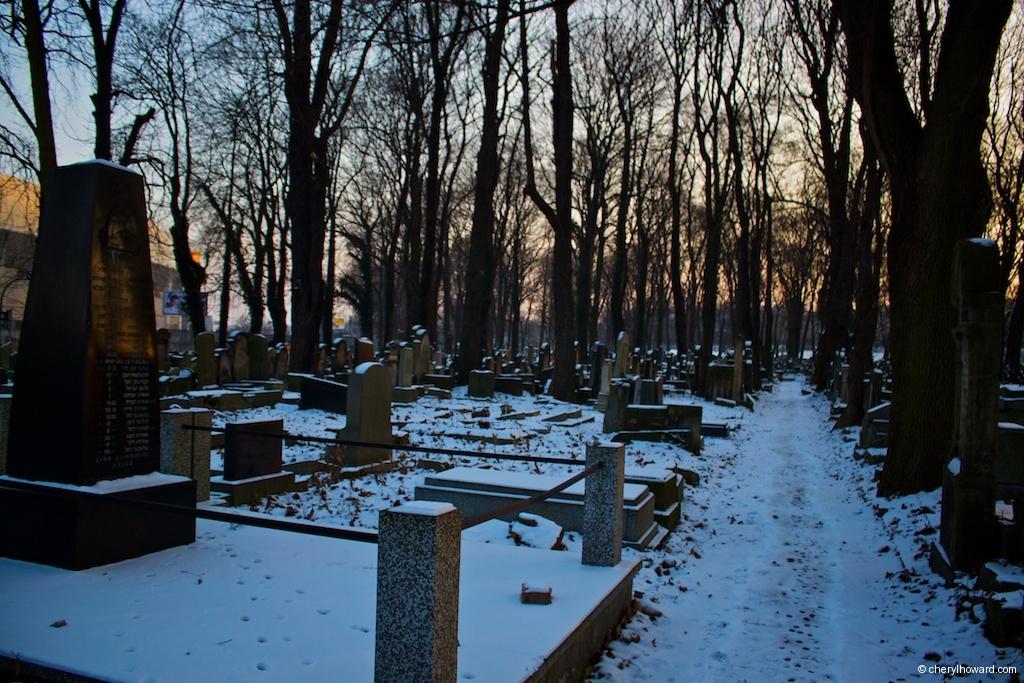 New Jewish Cemetery Winter Scene