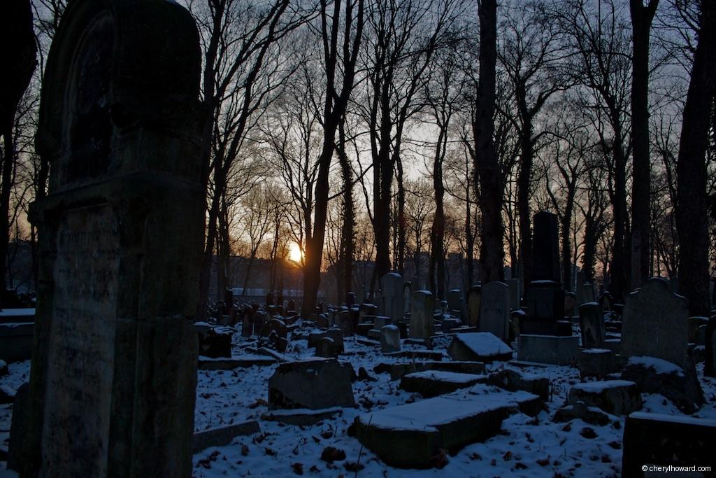 New Jewish Cemetery Krakow Sunset Golden Hour