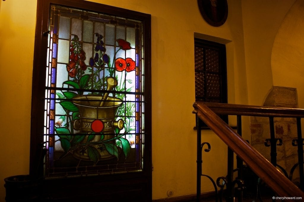 The Pharmacy Museum in Krakow - Stained Glass Window