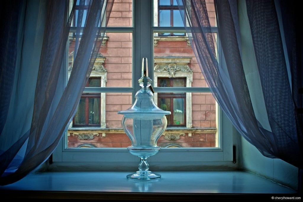 The Pharmacy Museum in Krakow - Window View