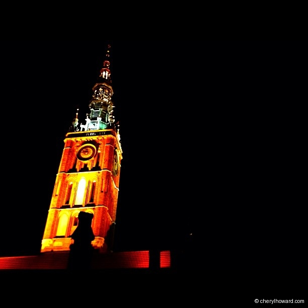 Gdansk St. Mary's Church At Night