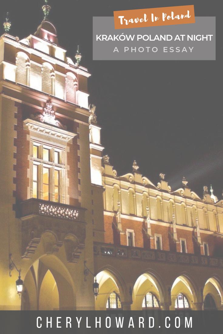 Kraków Poland At Night Pin