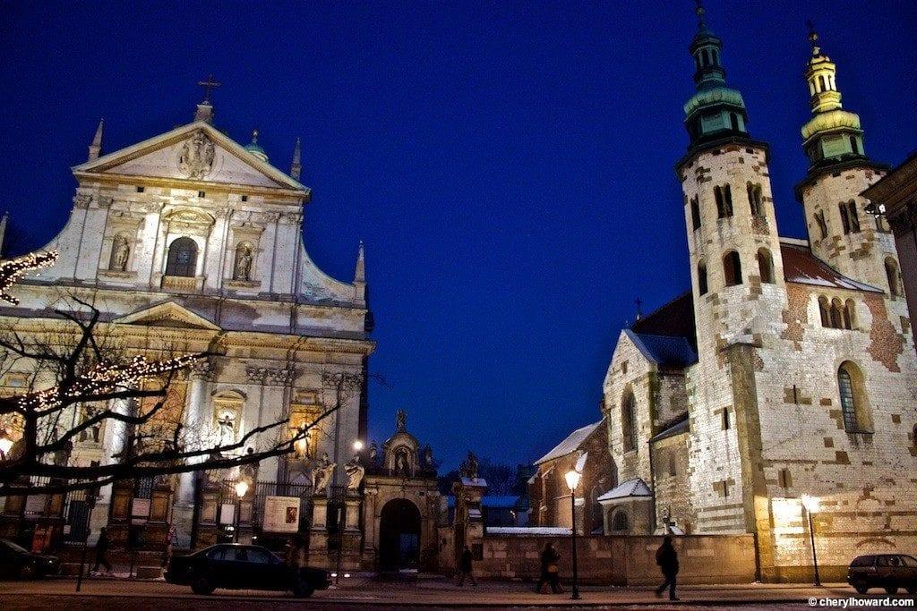 Krakow Poland At Night - Saints Peter and Paul Church