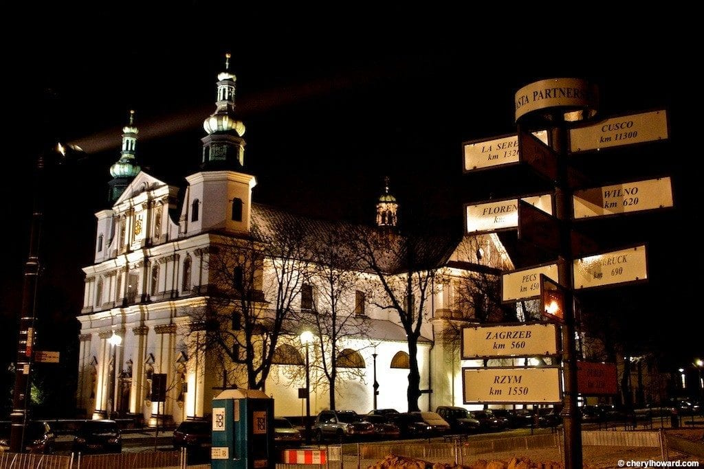 Krakow Poland At Night - St. Andrew's Church