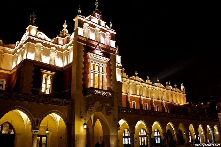 Krakow Poland At Night - The Cloth Hall