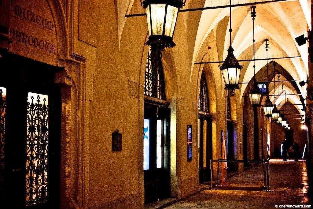 Krakow Poland At Night - The Cloth Hall Arches