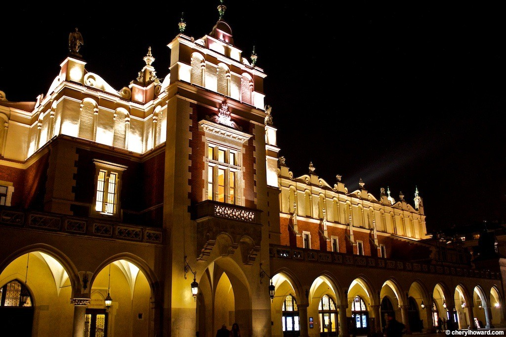 Krakow Poland At Night - The Cloth Hall