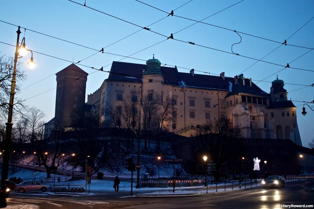 Krakow Poland At Night - Wawel Castle in Kraków