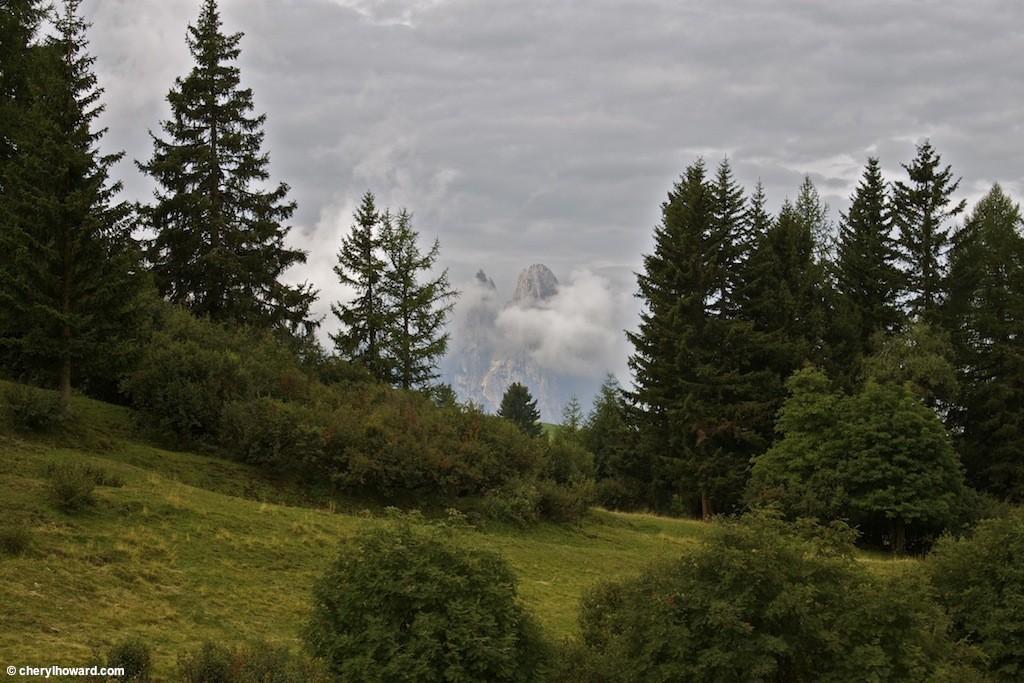 Gostner Schwaige Mountain Hut in the Italian Alps.