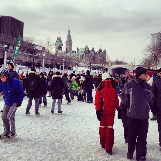 Winterlude in Ottawa.