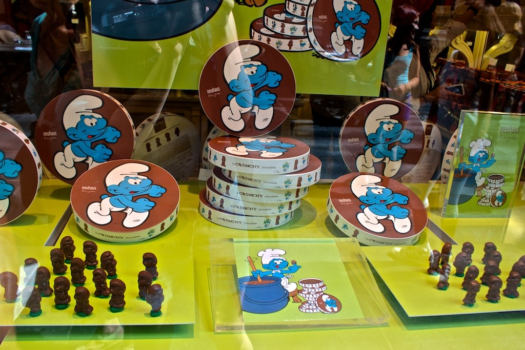 The Smurfs in Brussels.