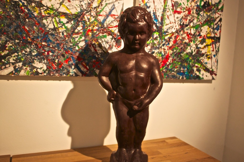 A Chocolate Peeing Boy in Brussels.