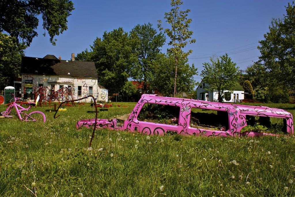 Heidelberg Project Pink Sunken Car