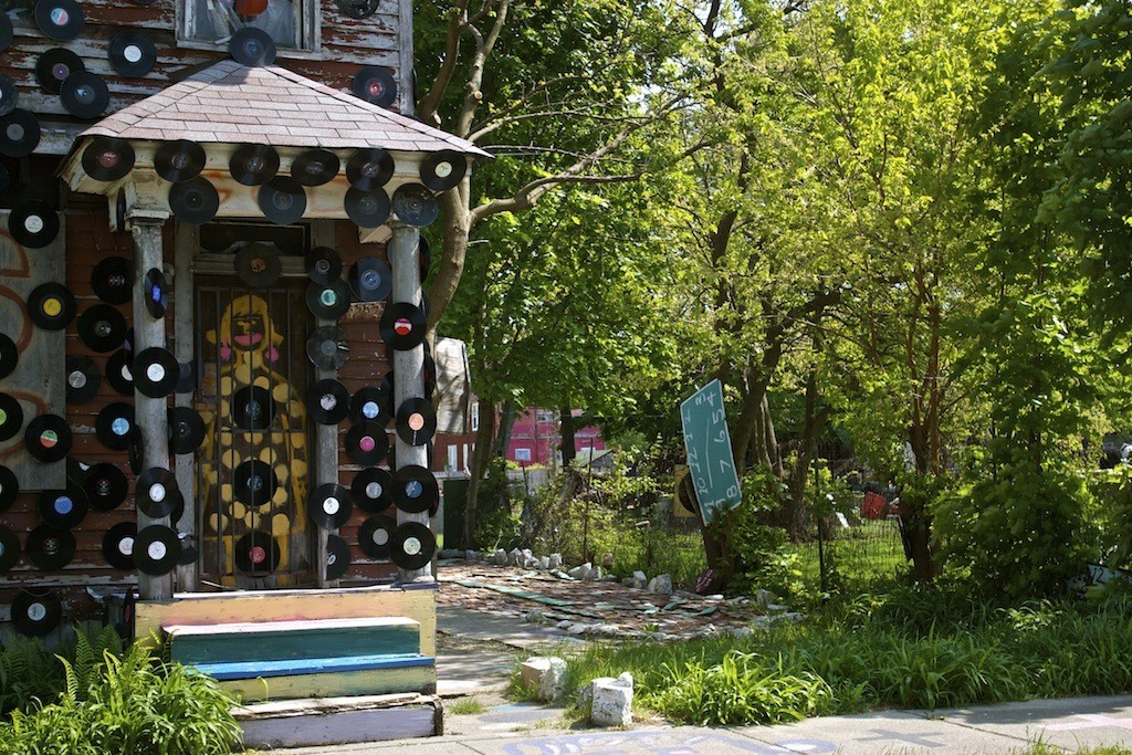 The Heidelberg Project In Detroit Door With Records