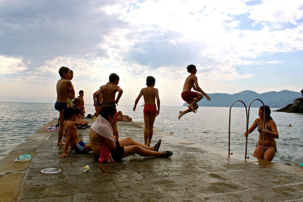 Italian Children Swimming