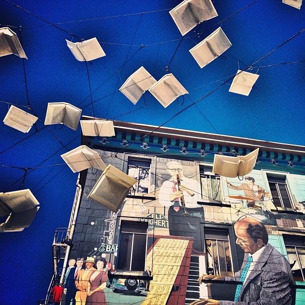 San Francisco Street Art Books In Air