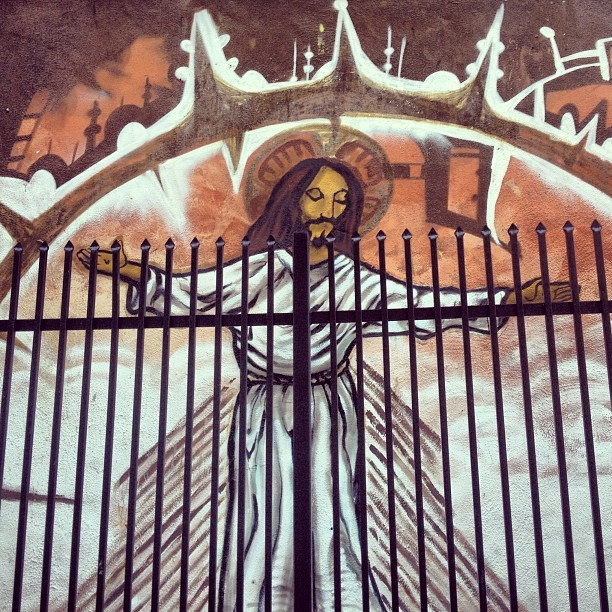 San Francisco Street Art - Mission District Jesus
