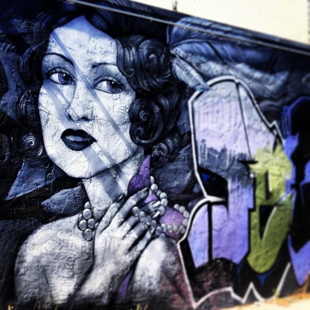 Street Art San Francisco - Woman Black Hair