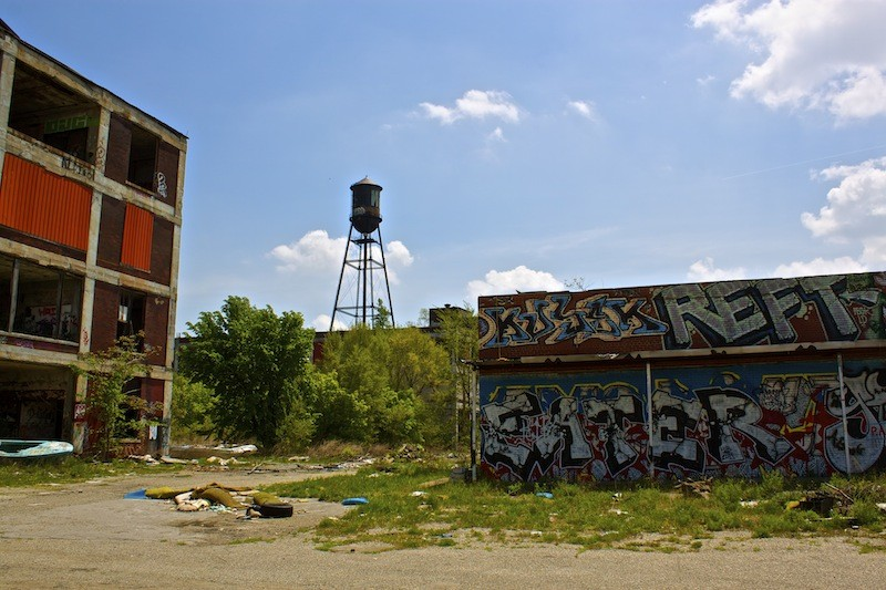 Packard Automotive Plant - Building With Water Tower