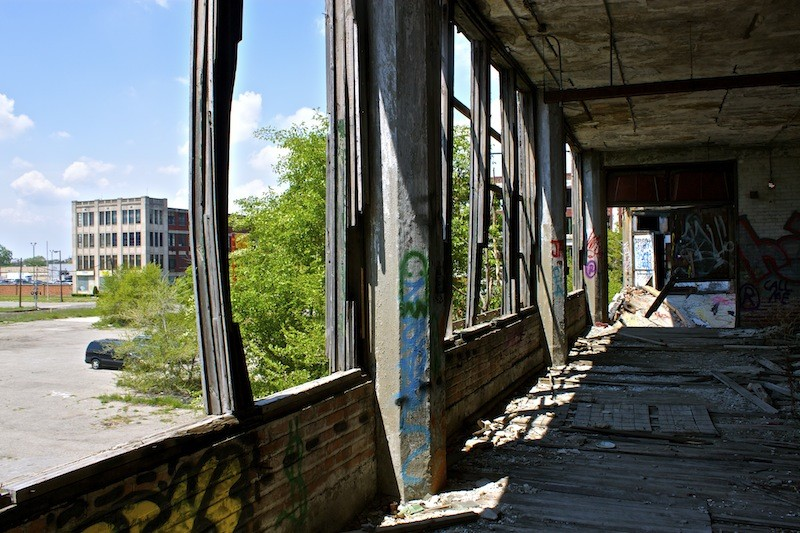 Packard Automotive Plant - Walking Inside