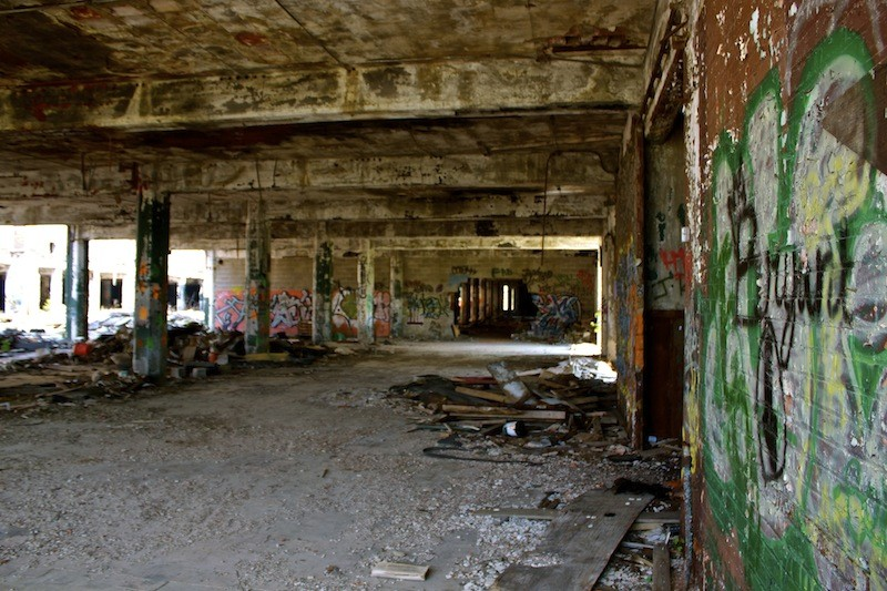 Packard Automotive Plant - Graffiti